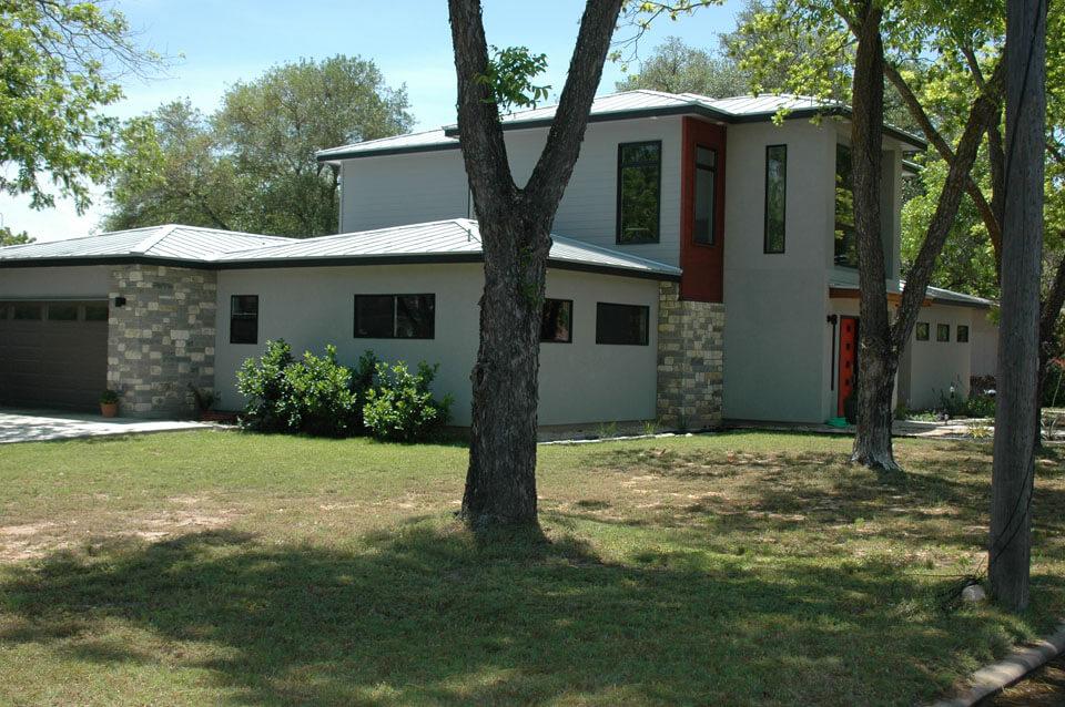 Contemporary Home N. Elk Fredericksburg,TX Front