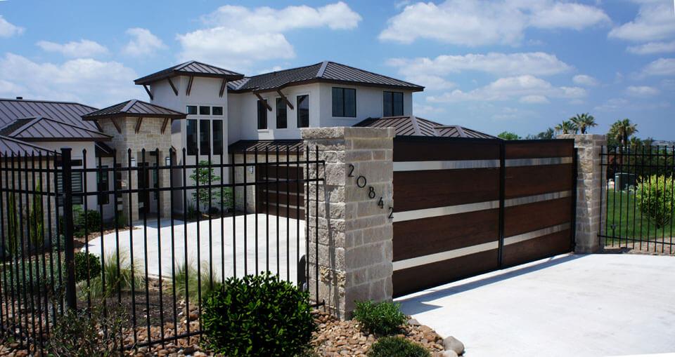Fence Door NeoM Construction New Home Great Navajo San Antonio TX